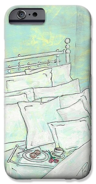 Bed Linens iPhone Cases - Good Morning iPhone Case by P J Lewis