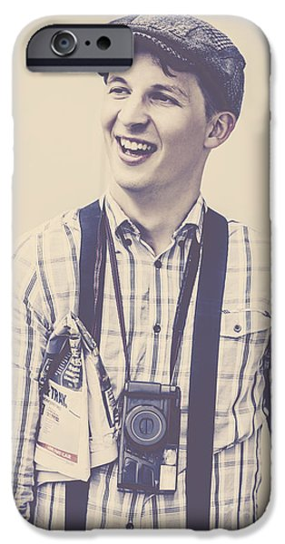 Press Conference iPhone Cases - Good news press coverage iPhone Case by Ryan Jorgensen