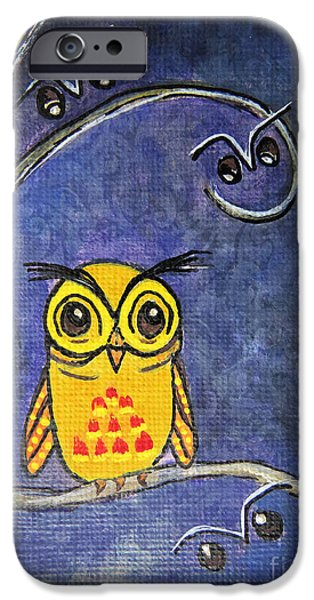 Animation iPhone Cases - Good Night Already - Little Hoot Owl iPhone Case by Ella Kaye Dickey