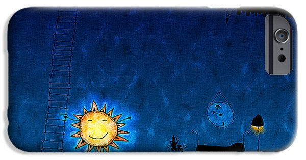 Animation iPhone Cases - Good Night Sun iPhone Case by Gianfranco Weiss