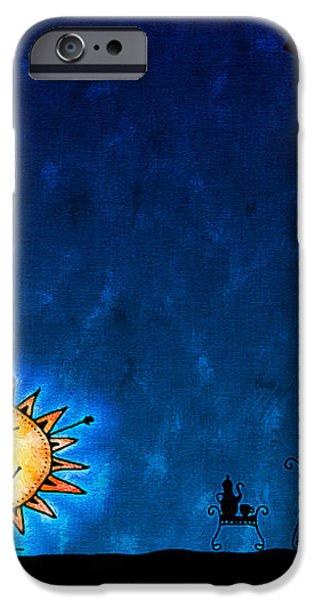 Good Night Sun iPhone Case by Gianfranco Weiss