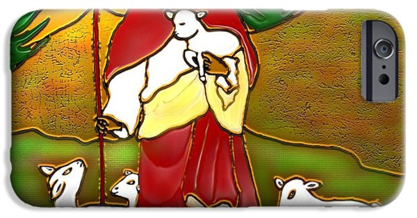 Christmas Greeting iPhone Cases - Good Shepherd iPhone Case by Latha Gokuldas Panicker