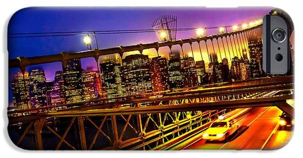 Hudson River iPhone Cases - Goodbye New York City iPhone Case by Az Jackson