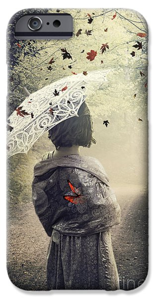 Drama Mixed Media iPhone Cases - Goodbye Summer iPhone Case by Svetlana Sewell