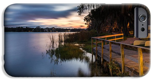 Park Scene Digital Art iPhone Cases - Goodnight Canoes iPhone Case by Clay Townsend