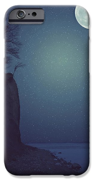 Beach iPhone Cases - Goodnight Moon iPhone Case by Carrie Ann Grippo-Pike