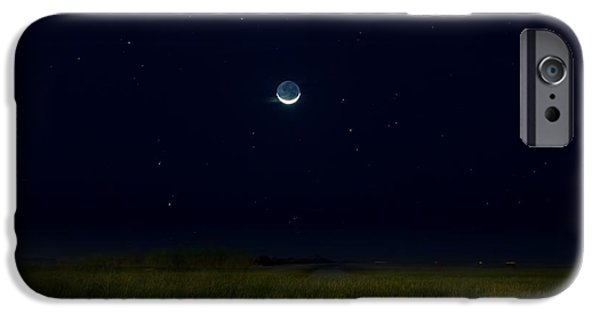 Moonscape iPhone Cases - The Dark Side of the Moon iPhone Case by Mark Andrew Thomas