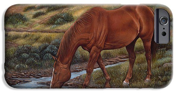 Quarter Horse iPhone Cases - GoodOl Red iPhone Case by Ricardo Chavez-Mendez