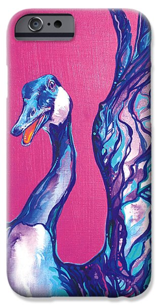 Canadian Geese Paintings iPhone Cases - Goose iPhone Case by Derrick Higgins