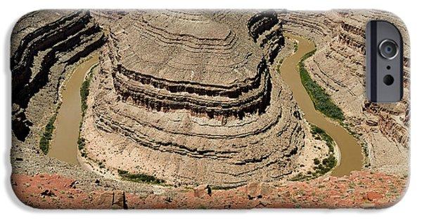 Neck iPhone Cases - Goosenecks - San Juan River iPhone Case by Christine Till