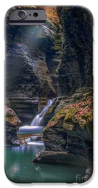 Watkins Glen iPhone Cases - Gorge Serenity iPhone Case by Marco Crupi
