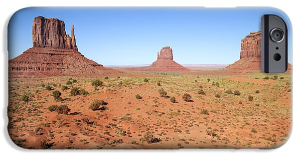 Desert Scape iPhone Cases - Gorgeous Monument Valley iPhone Case by Melanie Viola