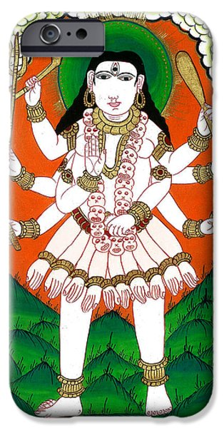 Hindu Goddess iPhone Cases - Gori Maa iPhone Case by Ashok Kumar