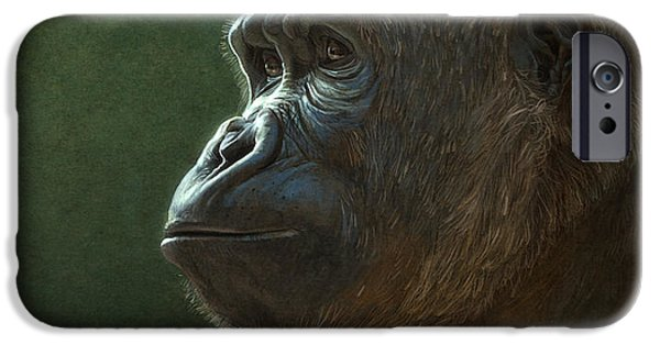 Ape iPhone Cases - Gorilla iPhone Case by Aaron Blaise