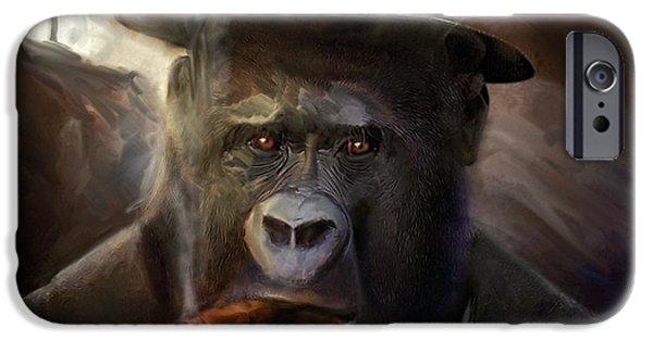 Al Pacino iPhone Cases - Gorilla Gangster iPhone Case by Gustav Boye