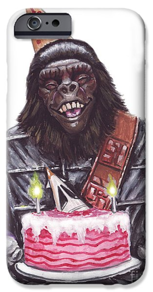 Gorilla Party iPhone Case by Mark Tavares