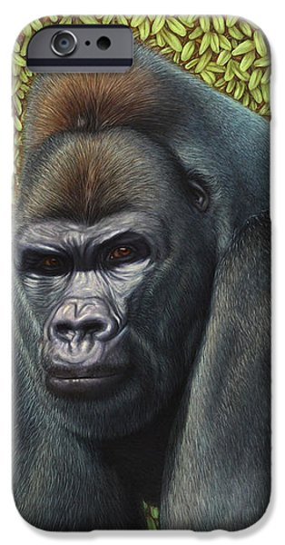 Gorilla with a Hedge iPhone Case by James W Johnson