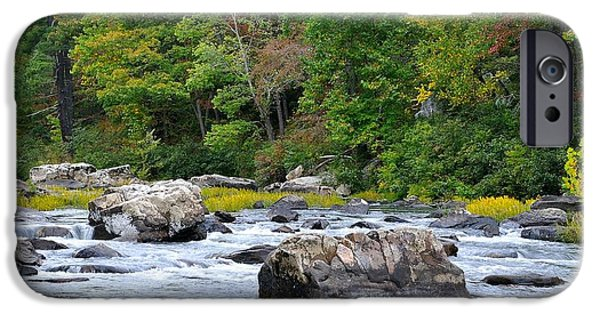 Trout Stream Landscape iPhone Cases - Goshen Pass 2 iPhone Case by Todd Hostetter
