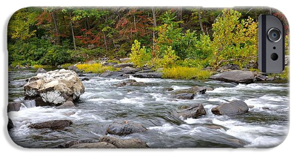 Trout Stream Landscape iPhone Cases - Goshen Pass 6 iPhone Case by Todd Hostetter