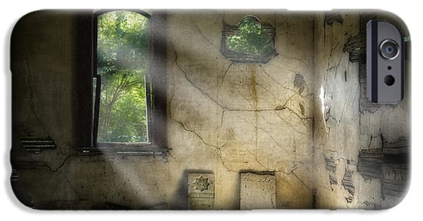 Headstones iPhone Cases - Gospel Center Church Interior iPhone Case by Tom Mc Nemar