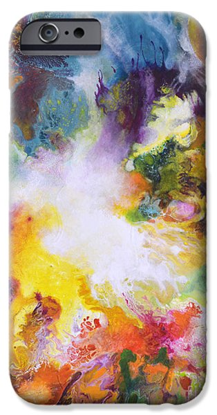 Recently Sold -  - Abstract Expressionist iPhone Cases - Gossamer iPhone Case by Sally Trace
