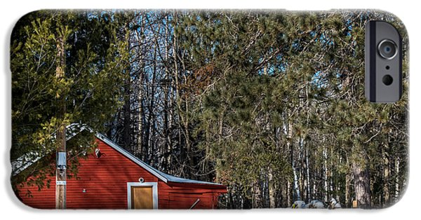 Old Barn Poster Photographs iPhone Cases - Got Wood iPhone Case by Paul Freidlund