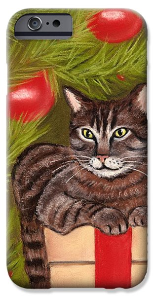 Animal Cards Pastels iPhone Cases - Got Your Present iPhone Case by Anastasiya Malakhova