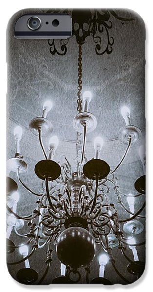 Abstract Expressionist Photographs iPhone Cases - Goth Chandelier iPhone Case by Marianna Mills