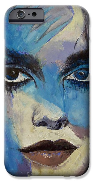 Michael Paintings iPhone Cases - Goth Girl iPhone Case by Michael Creese