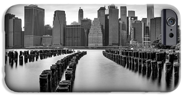 Freedom iPhone Cases - Gotham City New York City iPhone Case by Susan Candelario