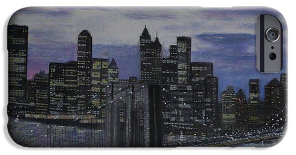 Bay Bridge iPhone Cases - Gotham NYC iPhone Case by Larry E Lamb