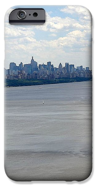 Gotham on the Hudson iPhone Case by David Bearden