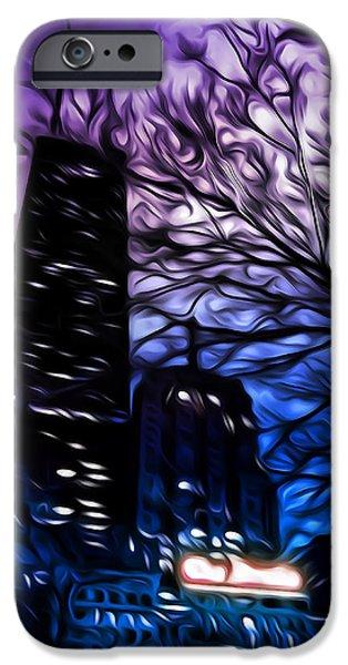 Scary Digital Art iPhone Cases - Gotham iPhone Case by Scott Norris