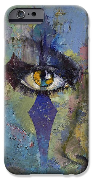 Michael Paintings iPhone Cases - Gothic Art iPhone Case by Michael Creese
