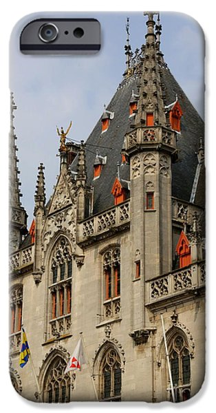 Gothic Bruges iPhone Case by Carol Groenen