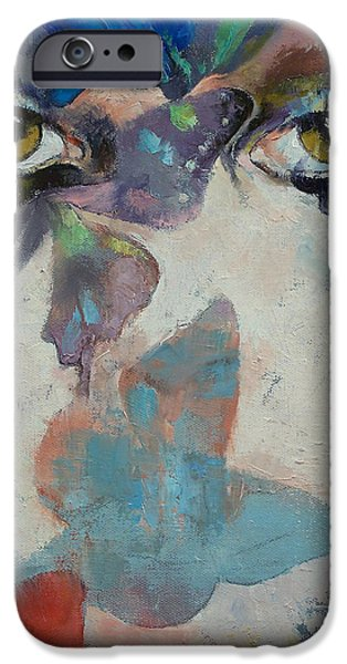 iPhone Cases - Gothic Butterflies iPhone Case by Michael Creese