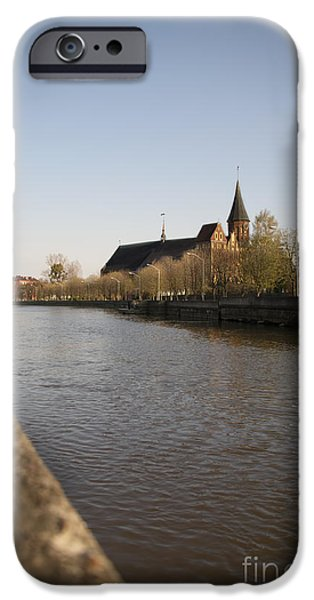 River View iPhone Cases - Gothic Dome Kaliningrad iPhone Case by Aleksey Tugolukov