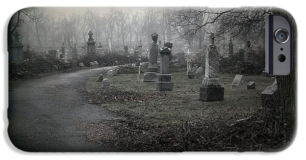 Graveyard Road iPhone Cases - Gothic Path iPhone Case by Gothicolors Donna Snyder