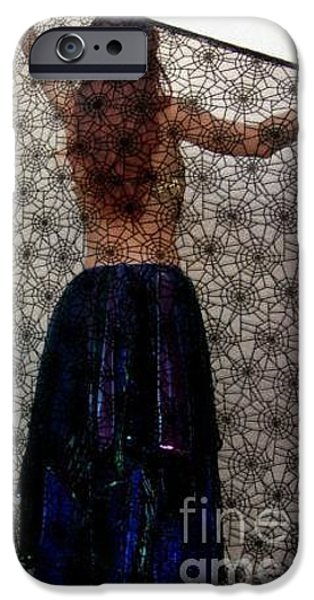Model Tapestries - Textiles iPhone Cases - Gothic style veil for dance. Model Sofia iPhone Case by Ameynra Fashion