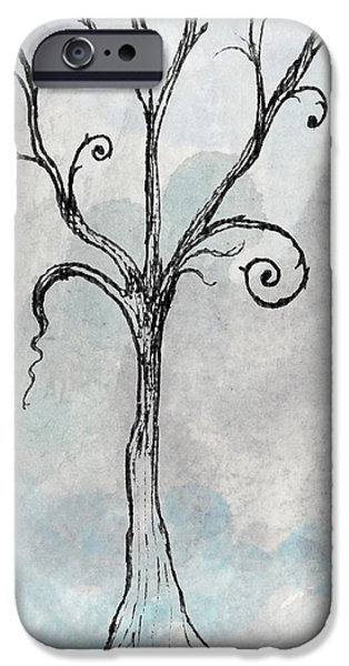 Aceo iPhone Cases - Gothic Tree iPhone Case by Jacquie Gouveia