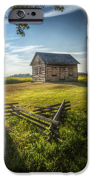 Cabin iPhone Cases - Gotten Cabin August 2014 iPhone Case by Scott Norris