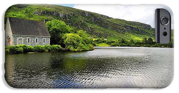 Gougane Barra Church Photographs iPhone Cases - Gougane Barra  Co.Cork iPhone Case by Michael Walsh
