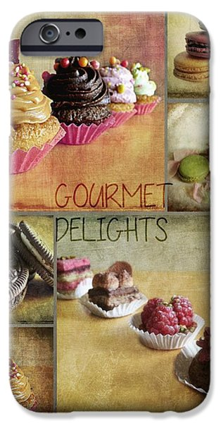 Oreos iPhone Cases - Gourmet Delights - collage iPhone Case by Barbara Orenya