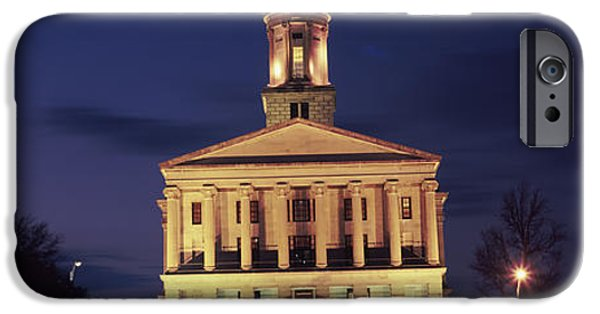 Tennessee Landmark iPhone Cases - Government Building At Dusk, Tennessee iPhone Case by Panoramic Images
