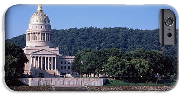 Politics Photographs iPhone Cases - Government Building At The Riverside iPhone Case by Panoramic Images