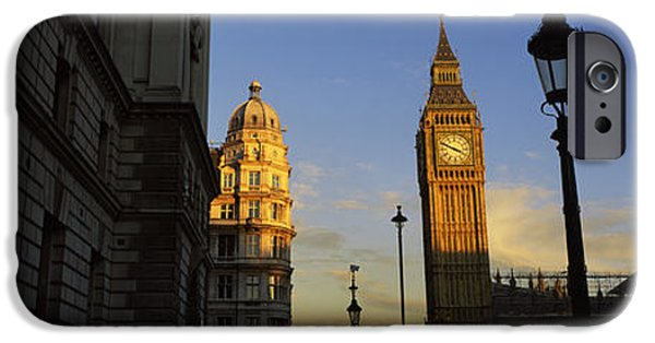 Politics Photographs iPhone Cases - Government Building With A Clock Tower iPhone Case by Panoramic Images