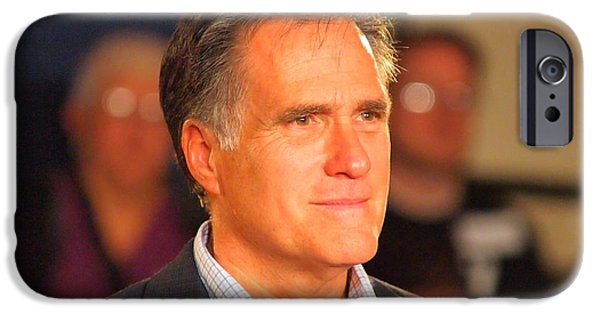 Mitt Romney iPhone Cases - Governor Romney iPhone Case by David  Clement