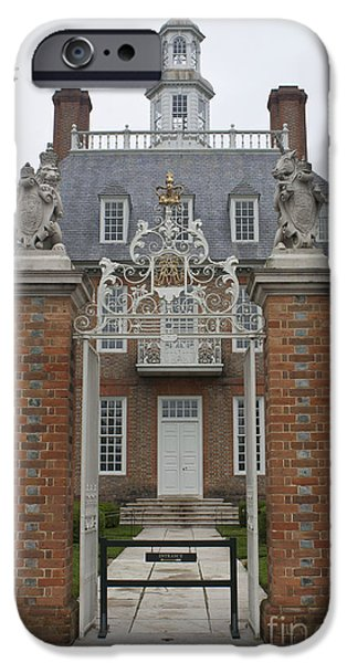 Historic Triangle iPhone Cases - Governors Palace iPhone Case by Teresa Mucha