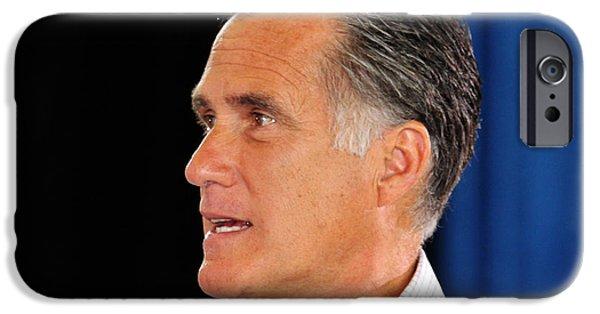 Mitt Romney iPhone Cases - Govorner Mitt Romney iPhone Case by Janice Rae Pariza