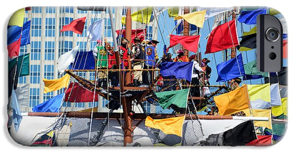Pirate Ship iPhone Cases - Pirates in the rigging 2015 iPhone Case by David Lee Thompson